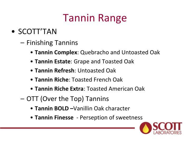 Tannin Range