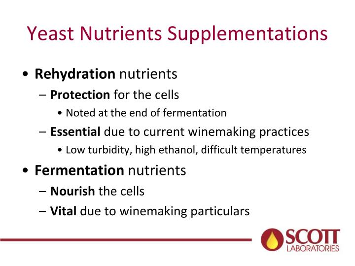Yeast Nutrients Supplementations