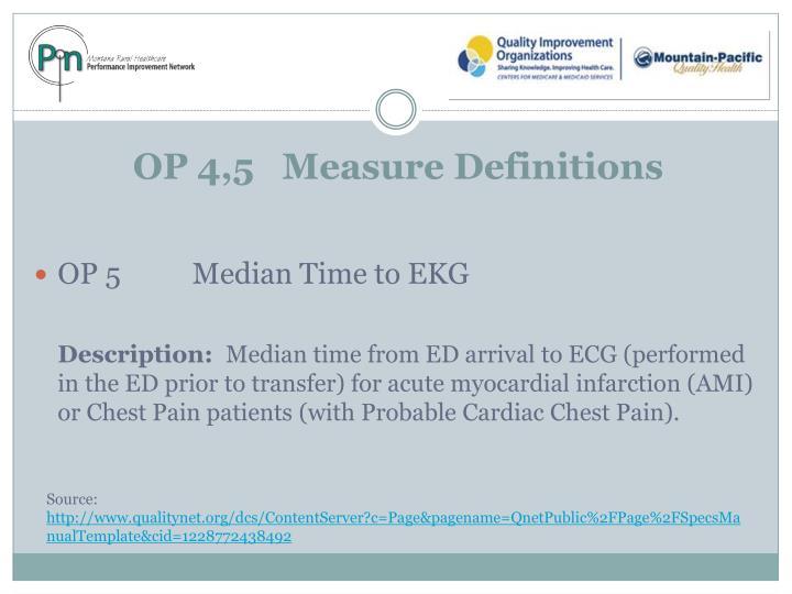 OP 4,5   Measure Definitions