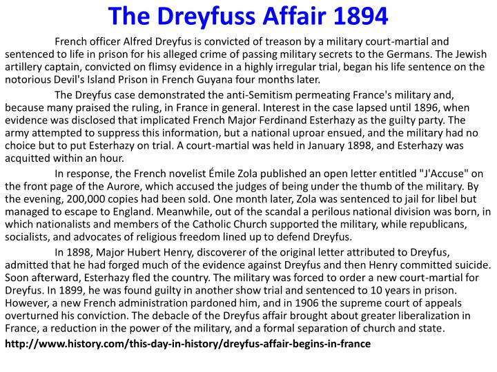 a history of the mystery of the dreyfus affair Amazoncom: the dreyfus affair: the scandal that tore france in two  piers  paul read is best known for his book alive: the story of the andes survivors,.