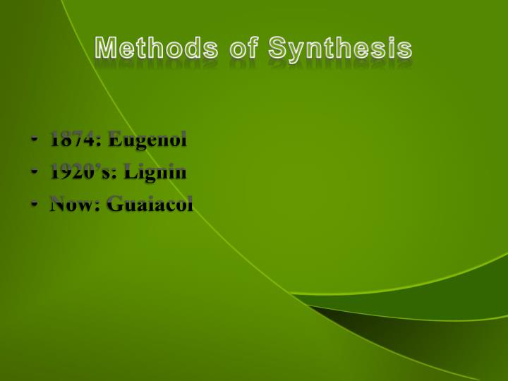 Methods of Synthesis