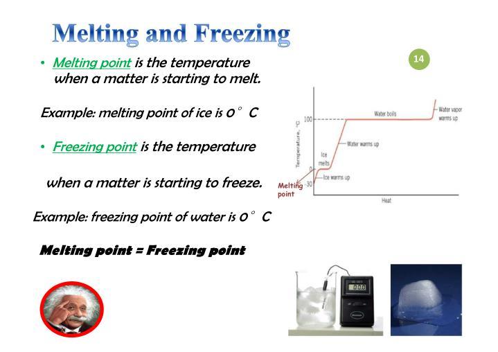 Melting and Freezing