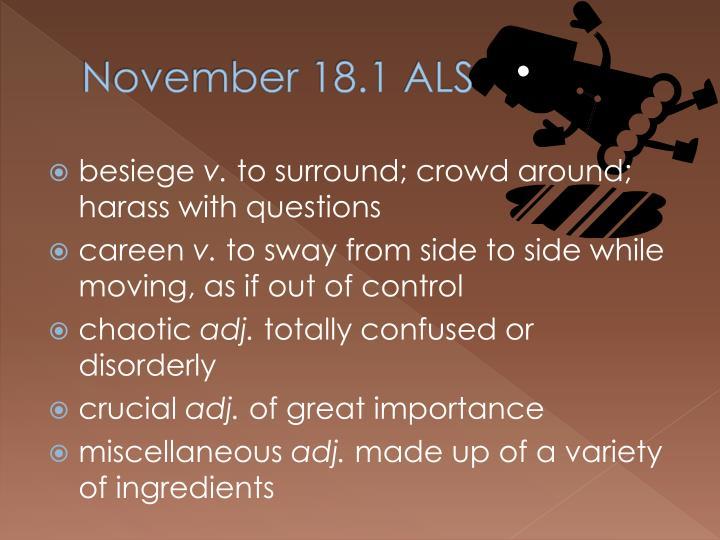 November 18.1 ALS