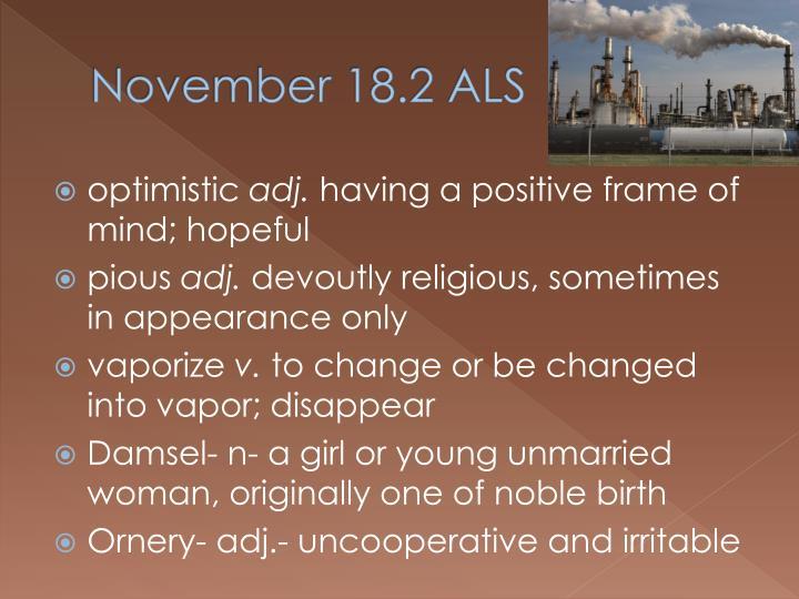 November 18.2 ALS