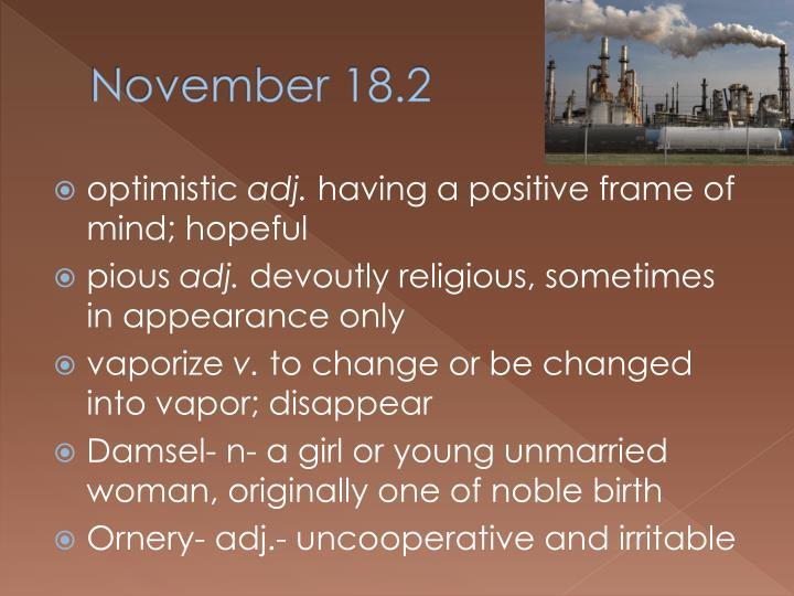 November 18.2