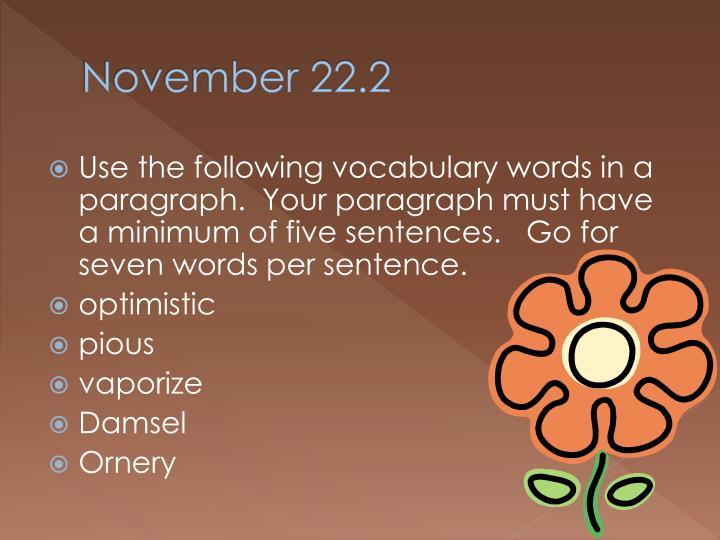November 22.2
