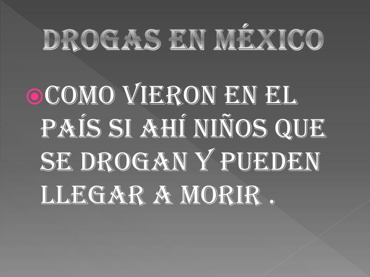 Drogas en México