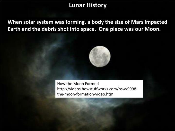 Lunar History