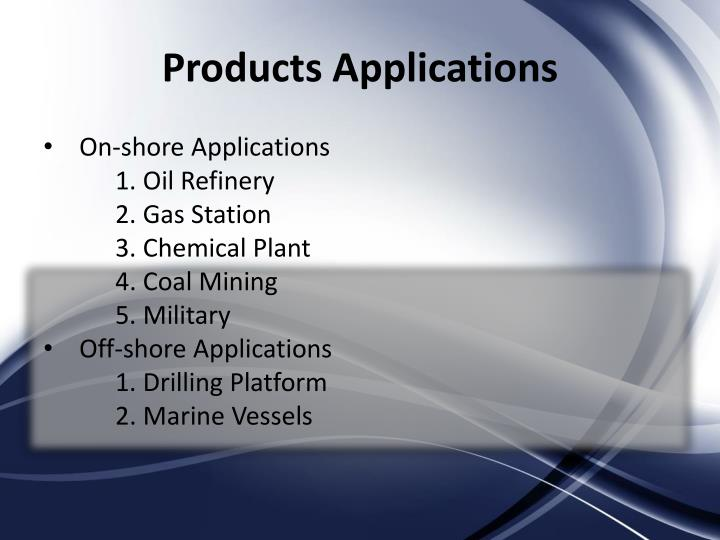Products Applications