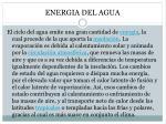 energia del agua