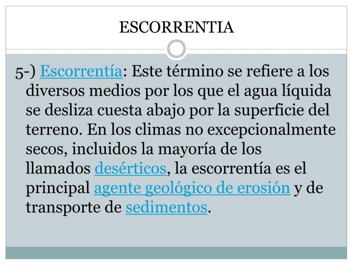 ESCORRENTIA