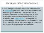 faces del ciclo hidrologico