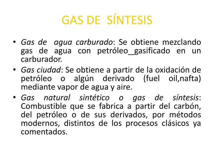 GAS DE  SÍNTESIS
