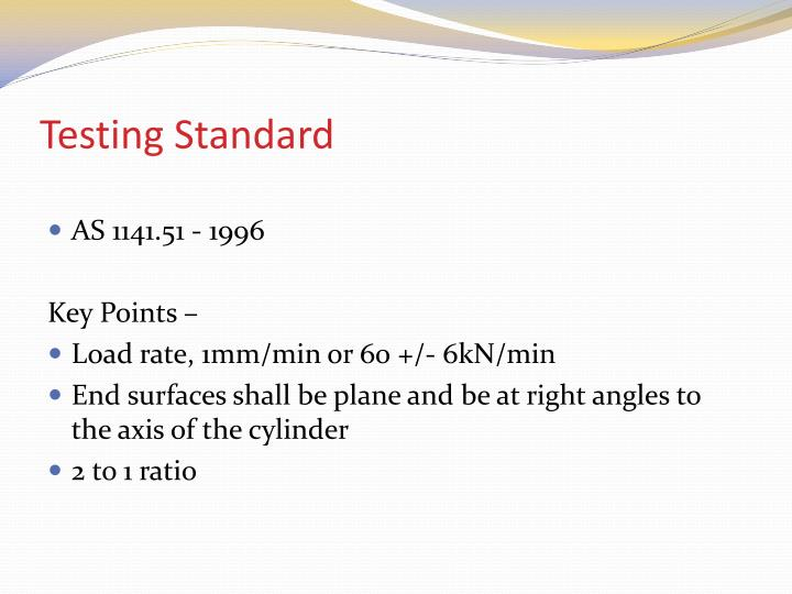 Testing Standard