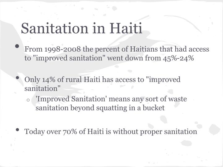 Sanitation in Haiti