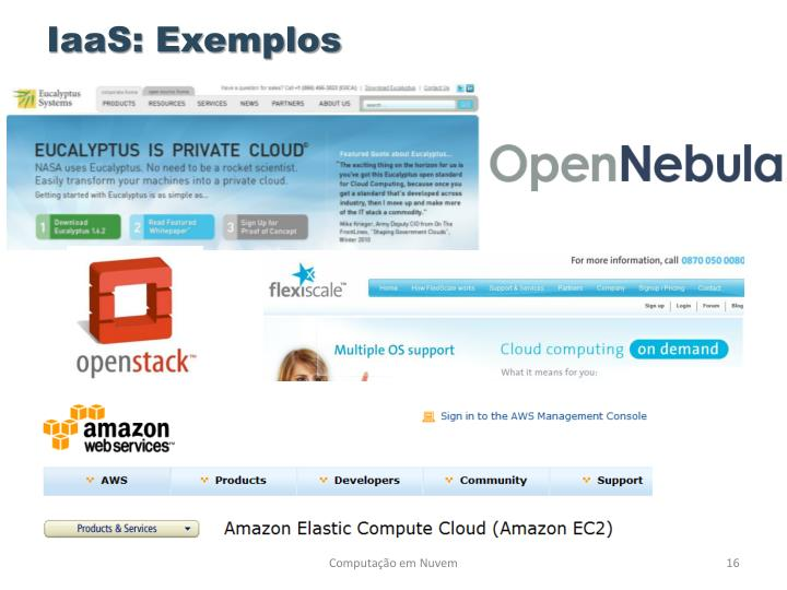 IaaS: Exemplos