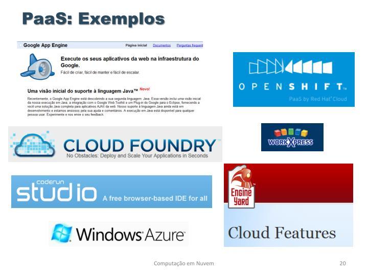 PaaS: Exemplos