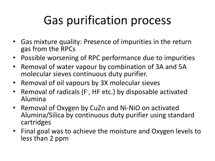 Gas purification process