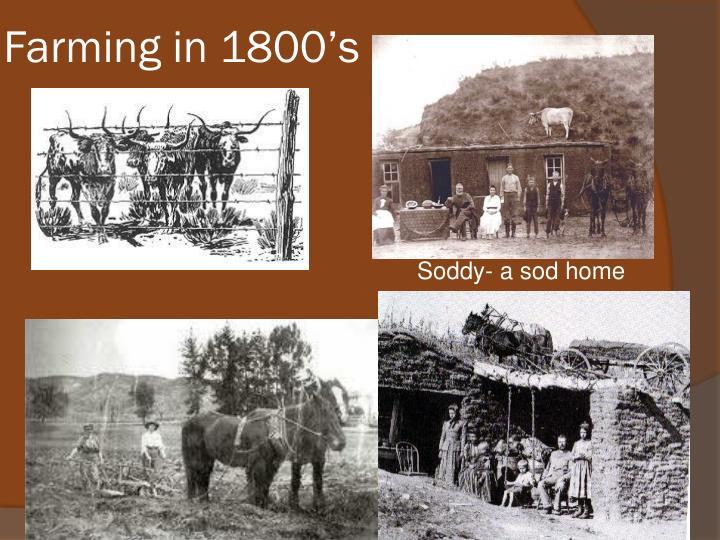 Farming in 1800's
