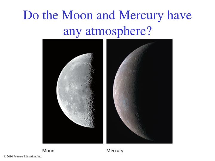 Do the Moon and Mercury have any atmosphere?