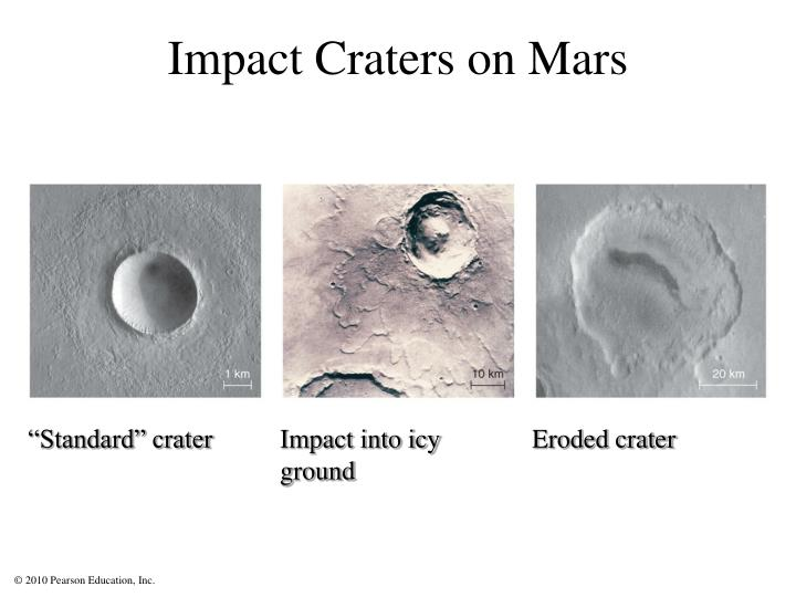Impact Craters on Mars