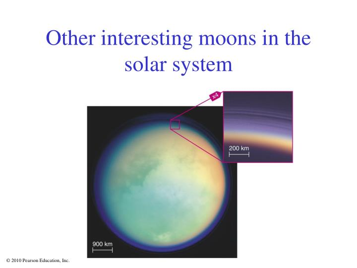 Other interesting moons in the solar system