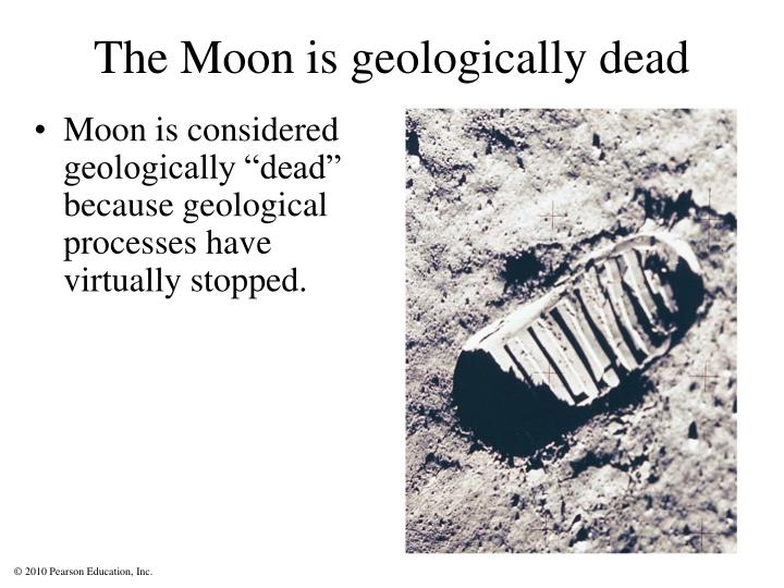 The Moon is geologically dead
