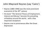 john maynard keynes say cains