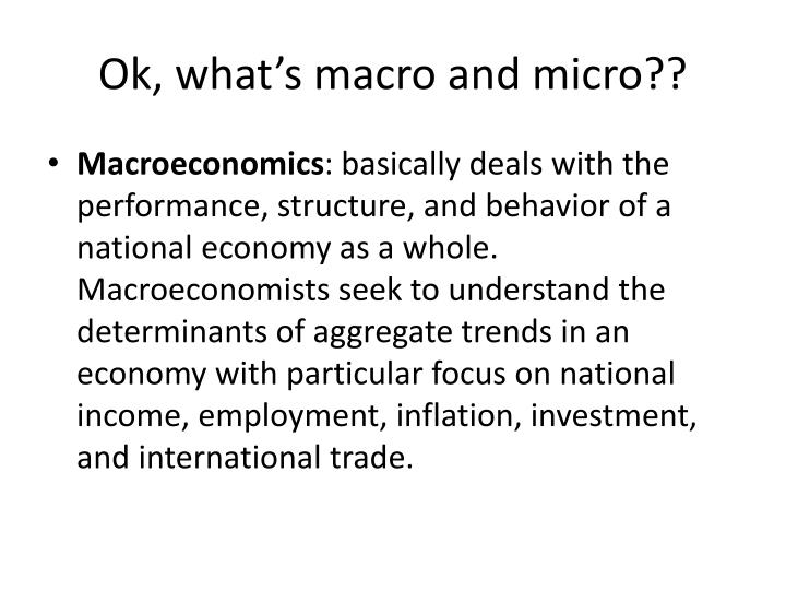Ok, what's macro and micro??