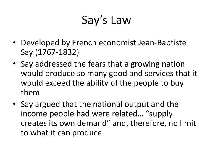 Say's Law