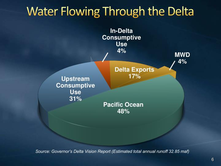 Water Flowing Through the Delta