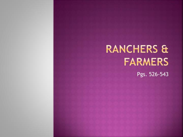 Ranchers farmers