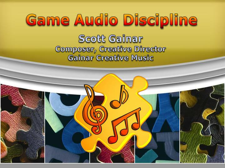 Game Audio Discipline