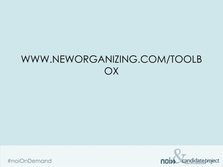 www.neworganizing.com/toolbox