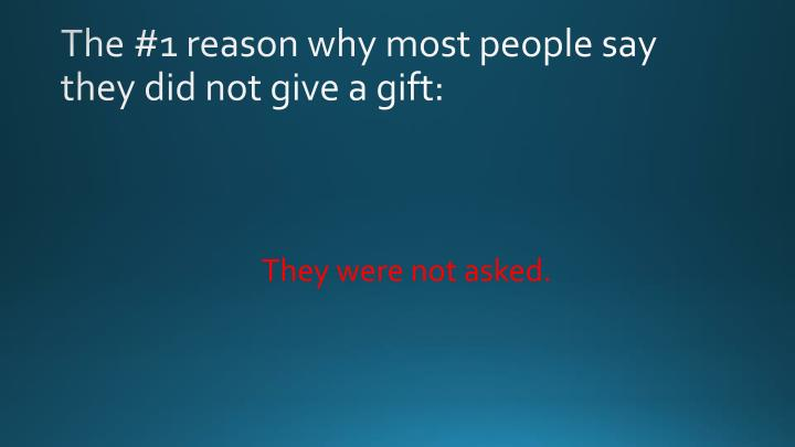 The #1 reason why most people say they did not give a gift:
