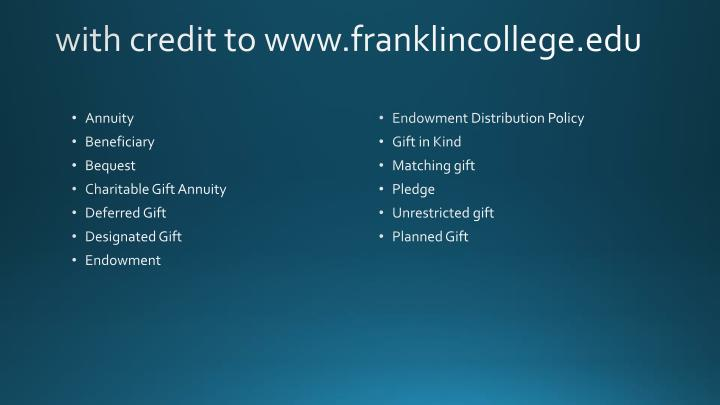 with credit to www.franklincollege.edu