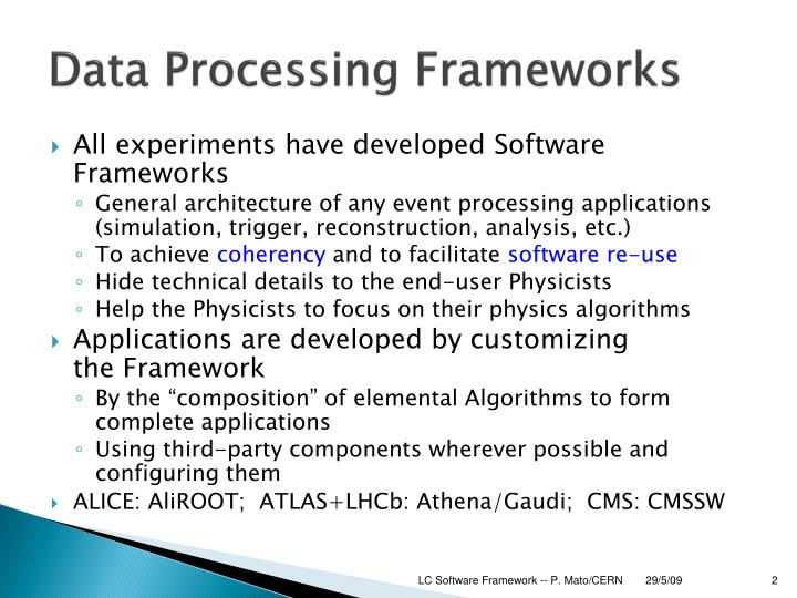 Data Processing Frameworks