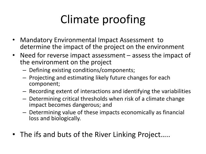Climate proofing