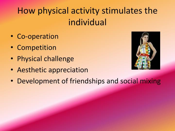 """how does physical activity affect the Definitions and measurement though people often use physical activity and exercise interchangeably, the terms have different definitions """"physical activity"""" refers to any body movement that burns calories, whether it's for work or play, daily chores, or the daily commute."""