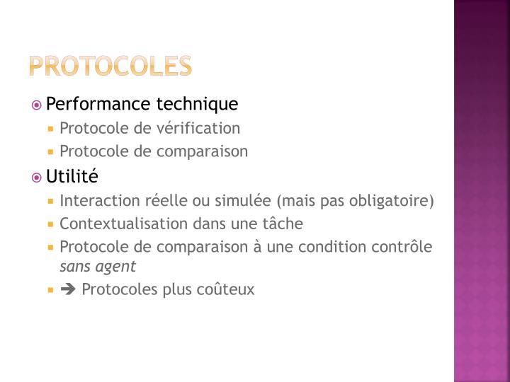 Protocoles