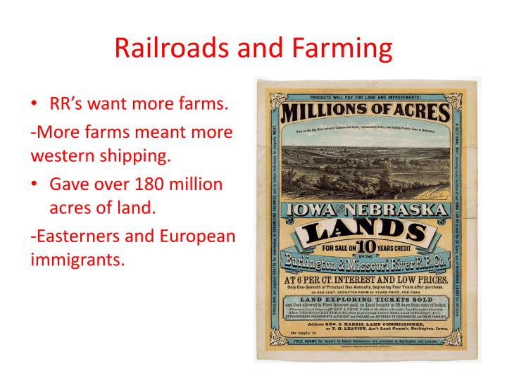 Railroads and Farming