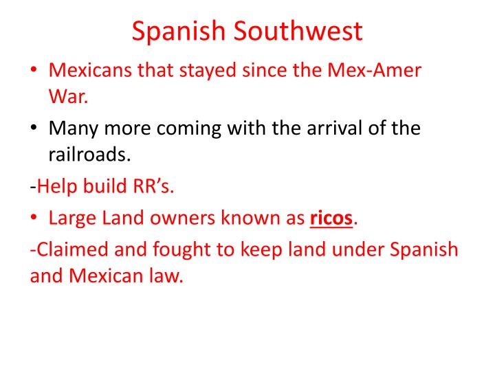 Spanish Southwest