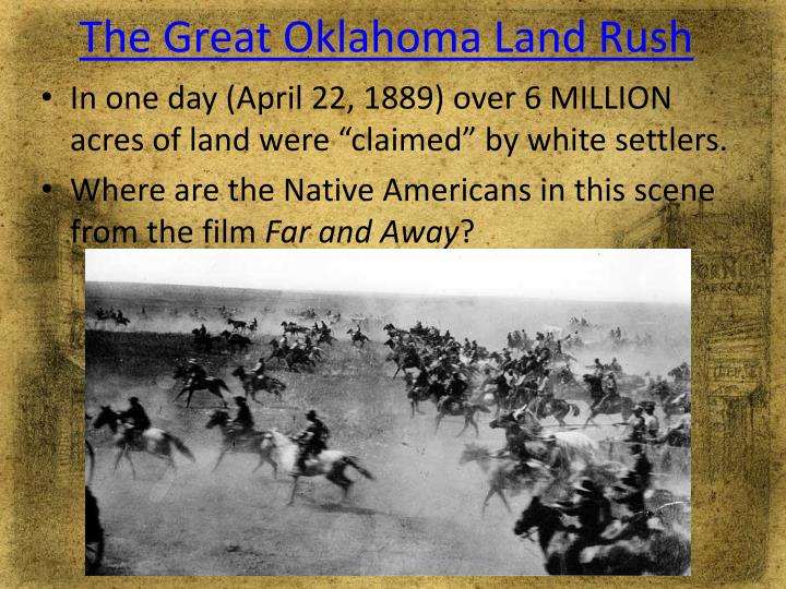 The Great Oklahoma Land Rush