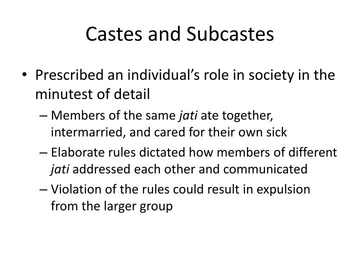Castes and Subcastes