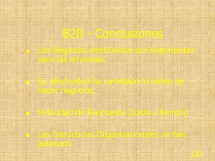 B2B - Conclusiones