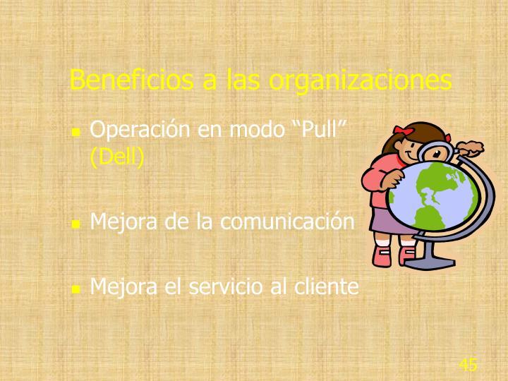 Beneficios a las organizaciones