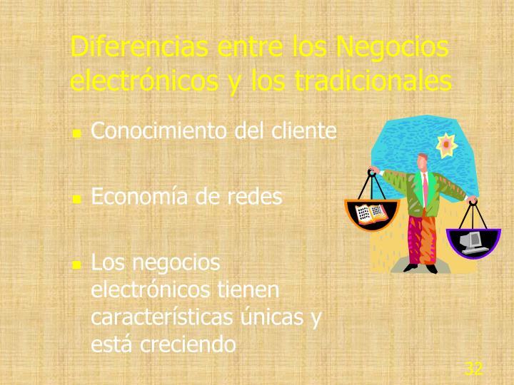 Diferencias entre los Negocios electrónicos y los tradicionales