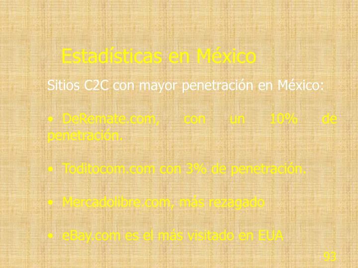 Estadísticas en México