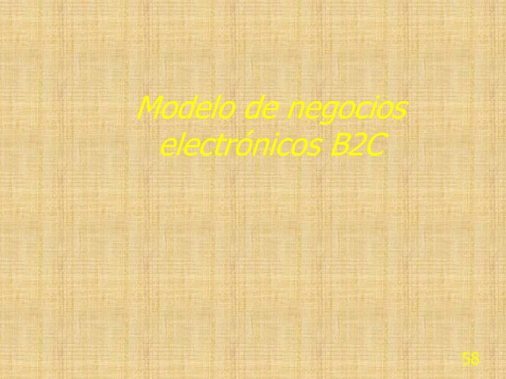 Modelo de negocios electrónicos B2C