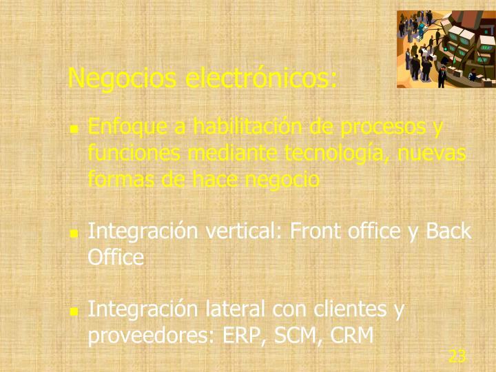 Negocios electrónicos: